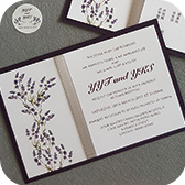 Personalized lavender wedding invitation