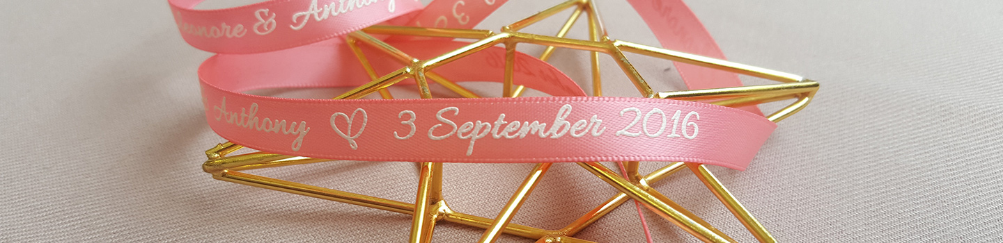 Customized printing wedding ribbons
