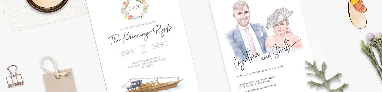 Customized printing wedding ribbons
